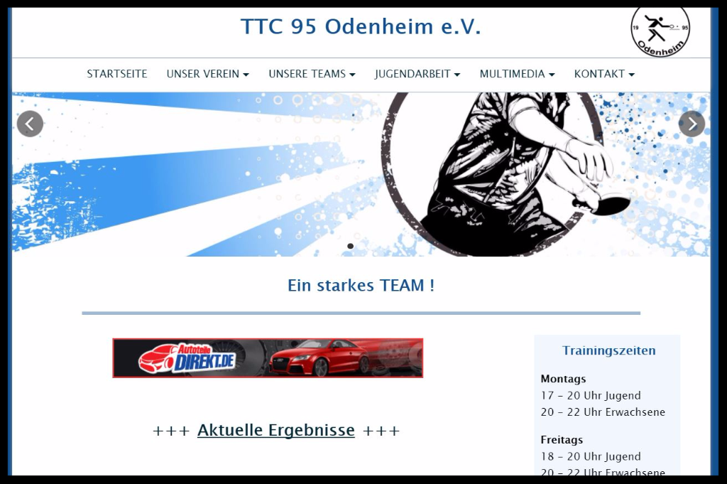TTC 95 Odenheim e.V. - Online Präsenz